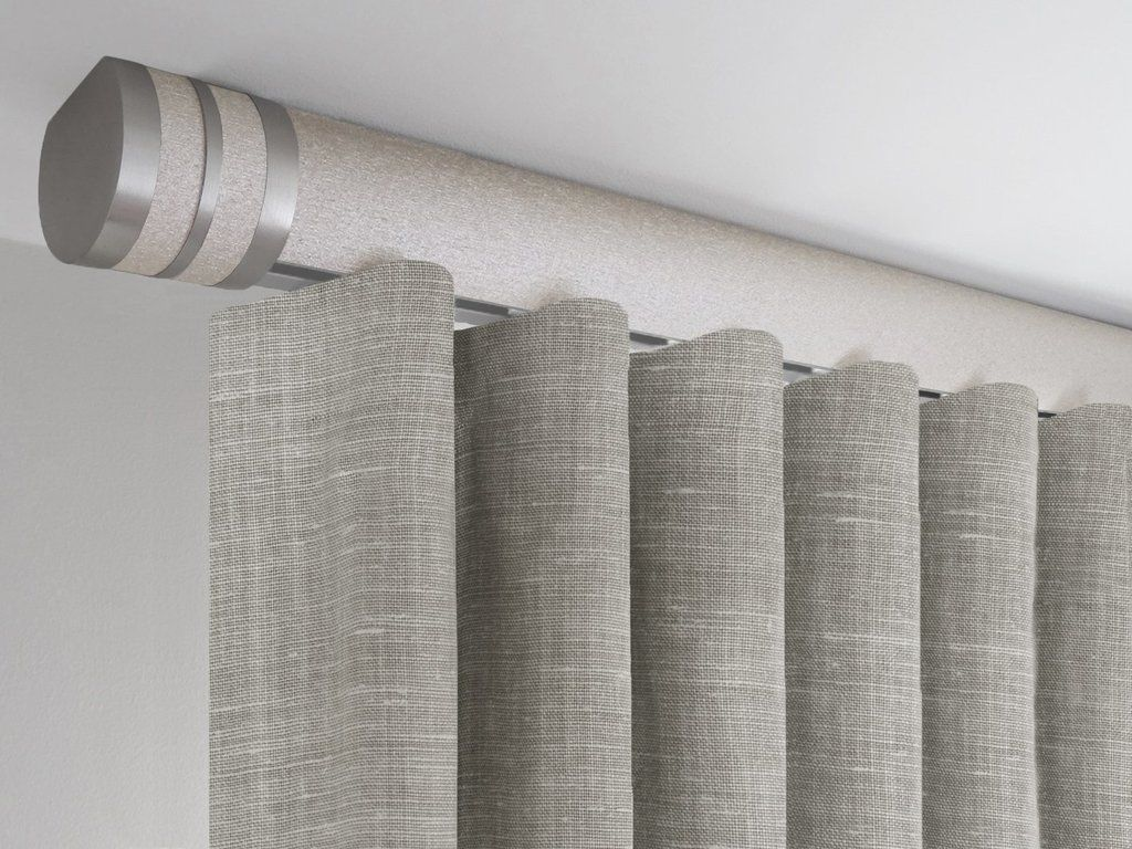 Flush Ceiling Fix Curtain Pole Set In Gold Dust By Walcot House