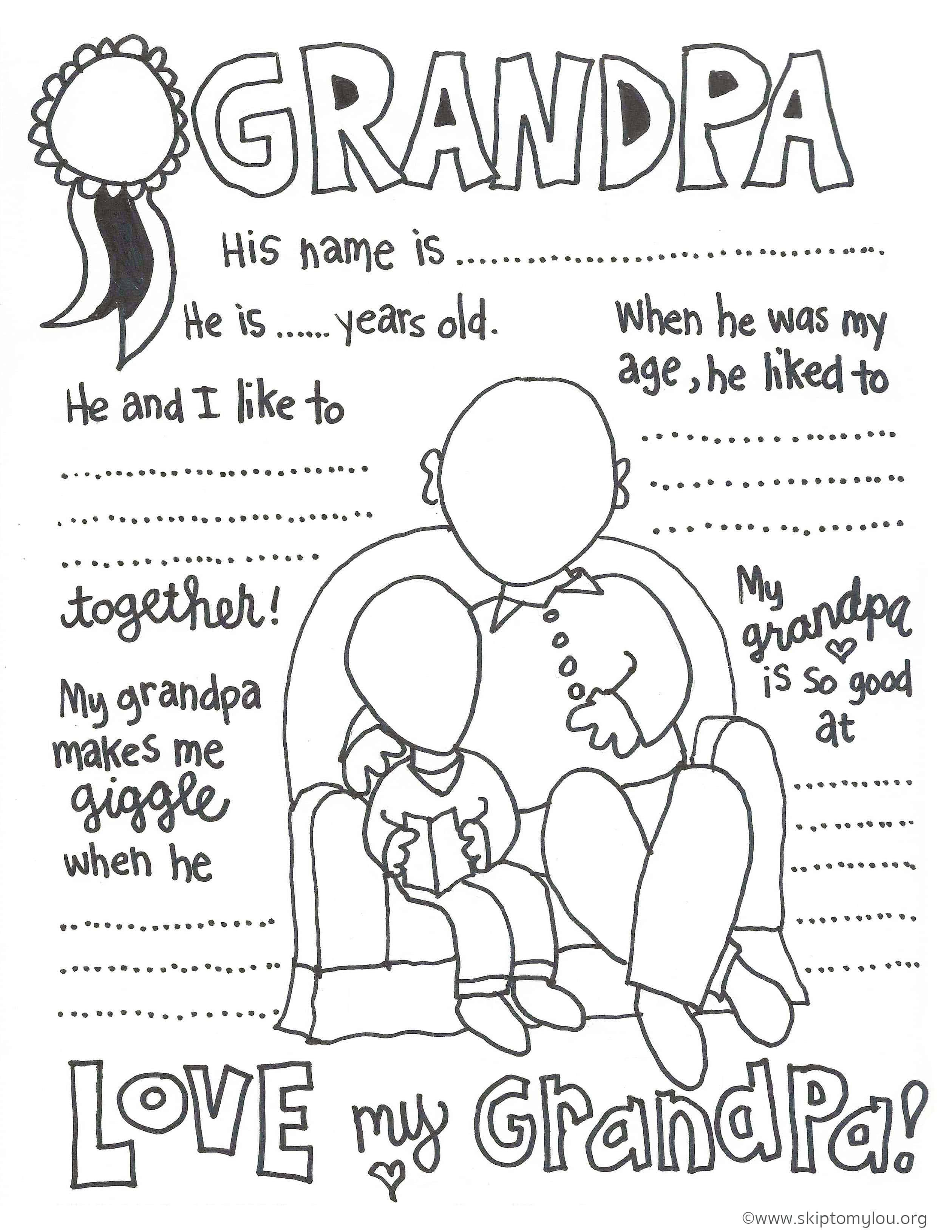 The Cutest Grandparents Day Coloring Pages In 2020 Fathers Day Coloring Page Happy Birthday Grandpa Grandparents Day Activities