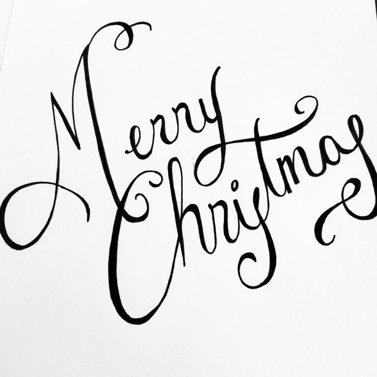 Merry Christmas In Cursive.Merry Christmas Cursive Writing Christmas Cursive Lettering