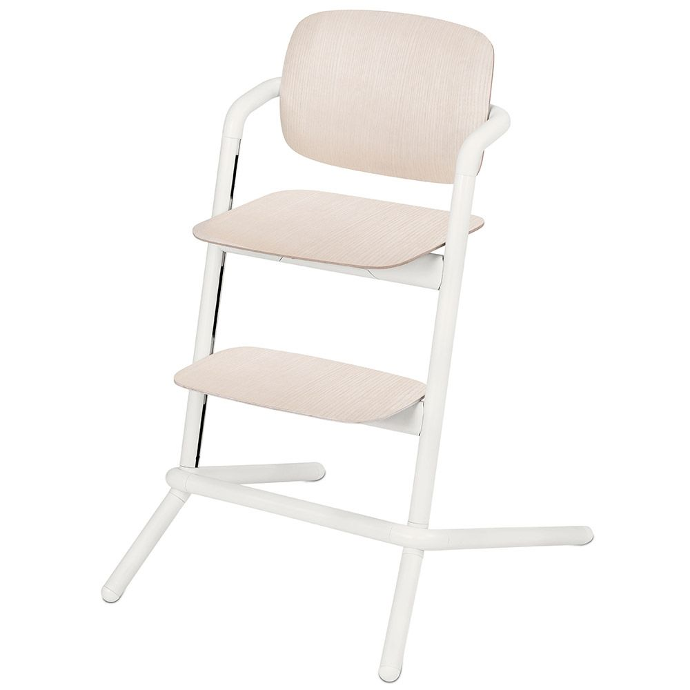 Cybex Lemo Wooden Highchair Porcelaine White Wooden Baby High