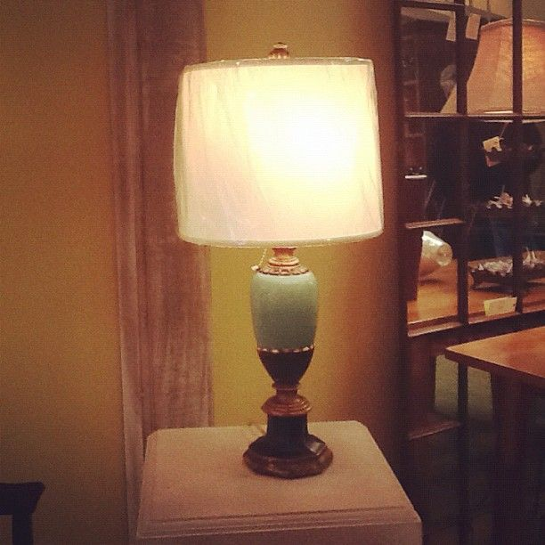 Fun vintage lamp at the shade shop my favorite lighting pinterest fun vintage lamp at the shade shop aloadofball Choice Image