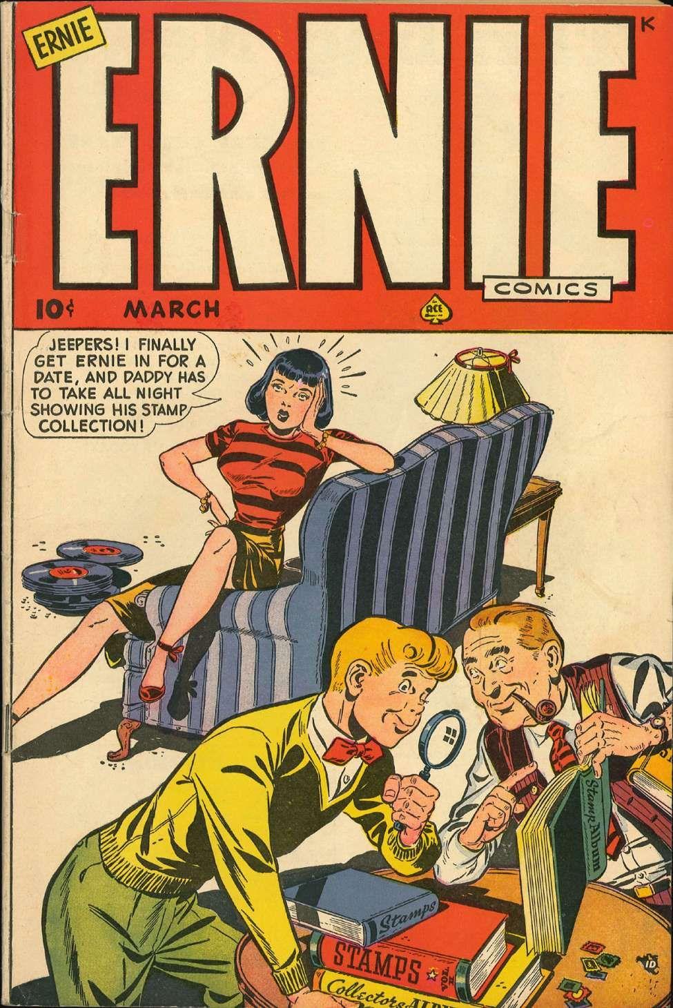 Ernie Comics 25 Ace Magazines Comic Book Plus Classic Comic Books Comics Vintage Comic Books