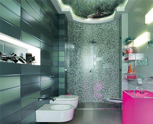 azulejos modernos color en baos y cocinas - Azulejos Modernos