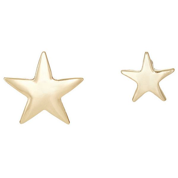 Womens Star Mismatched Stud Earrings Kenneth Jay Lane