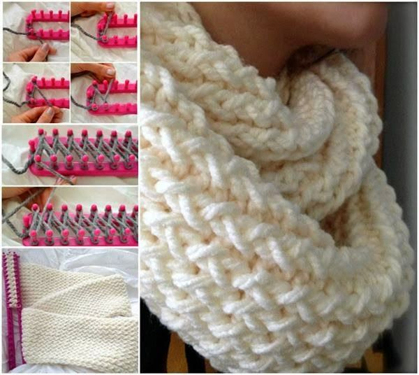 Diy infinity scarf with a knitting loom using a knitting loom diy infinity scarf with a knitting loom solutioingenieria Images