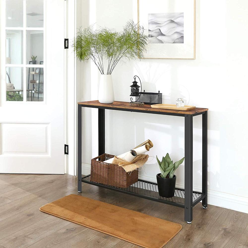 Amazon Com Vasagle Console Table Sofa Table Metal Frame Easy