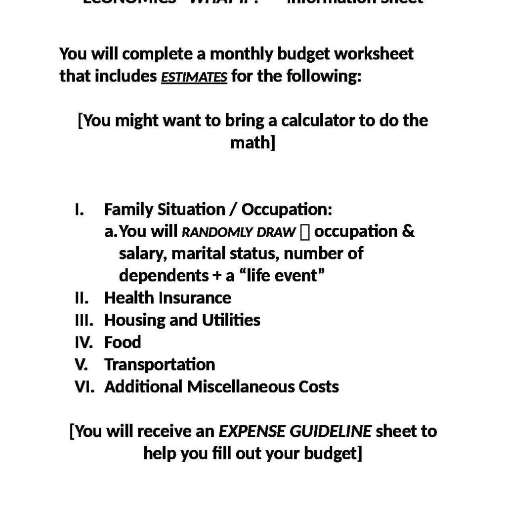 Weekly Budget Worksheet And Nonprofit Budget Worksheet