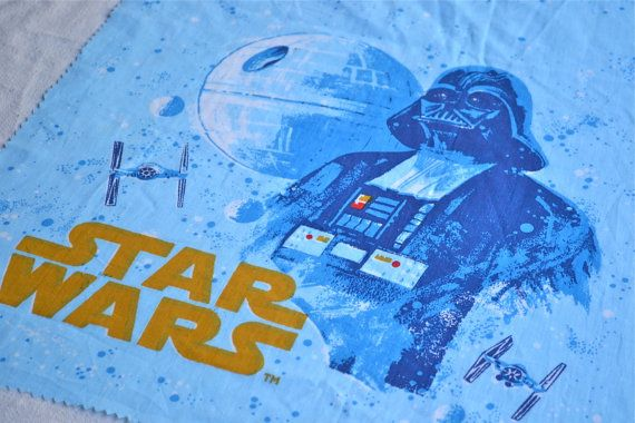 Vintage Star Wars Fabric Factory Fabric Panel By Pumpkintruck