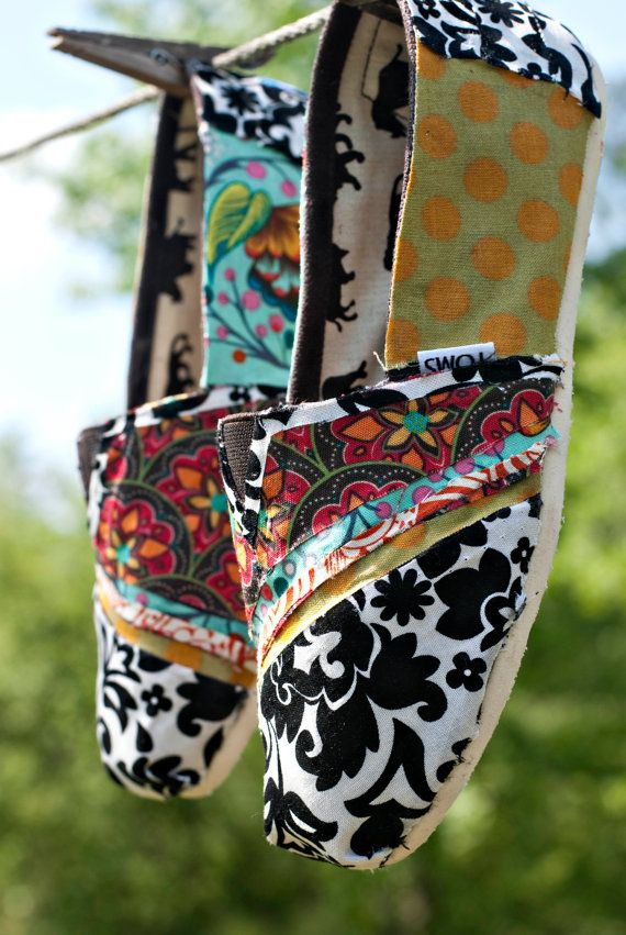 fabric covered Toms!
