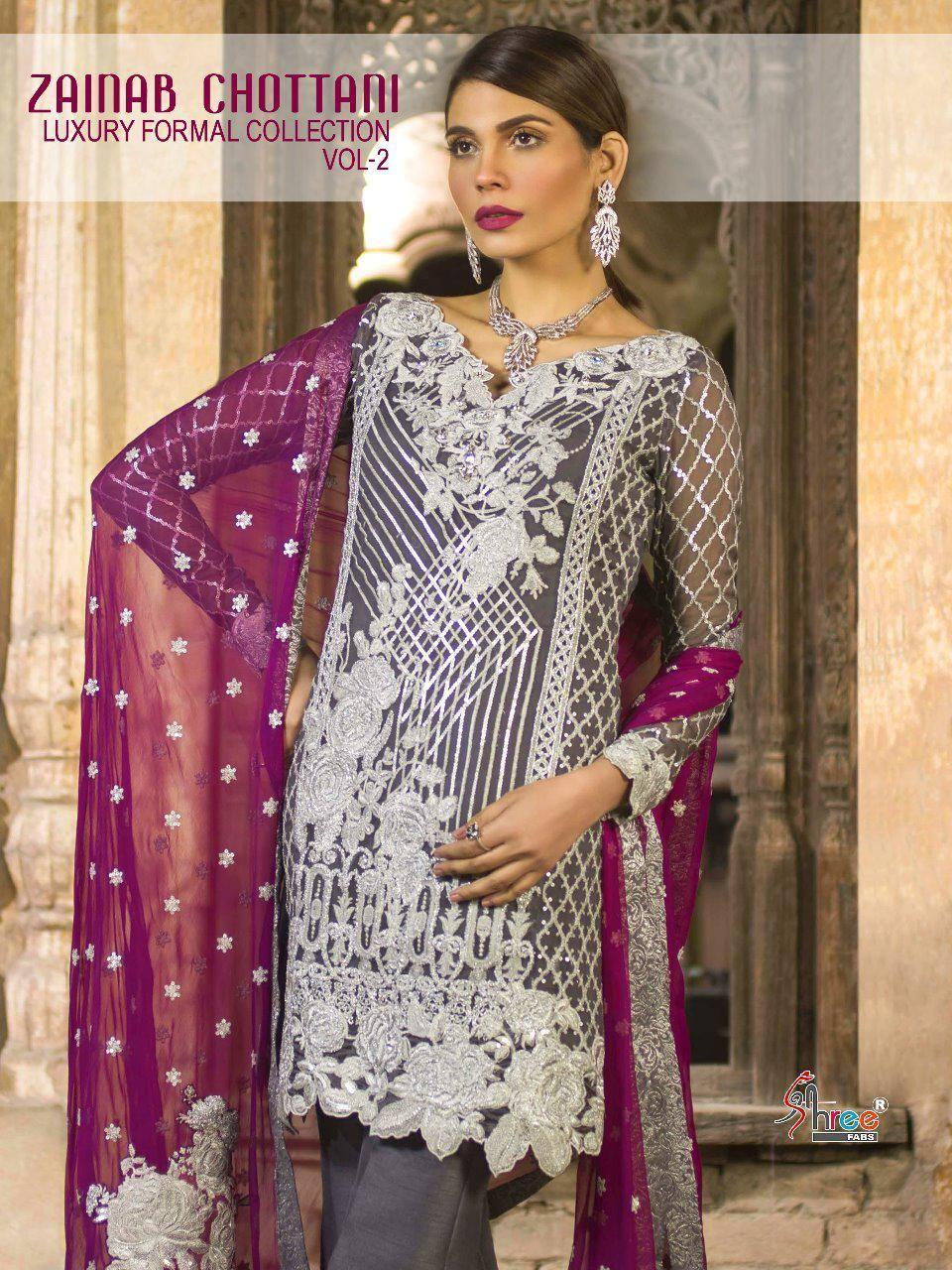 7021bbab29 Shree Fab Zainab Chottani Luxcury Formal Collection Vol-2 (8 Pc Set ...