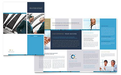 Small Business Consulting  Brochure Template Design Sample