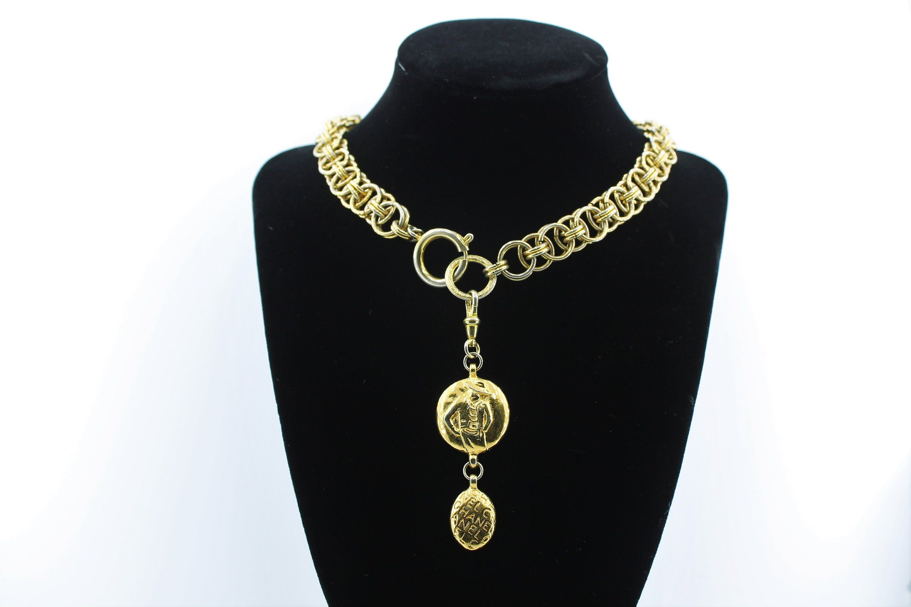 CHANEL Luxury Coco Chanel Necklace / Rare Signed Jewelry