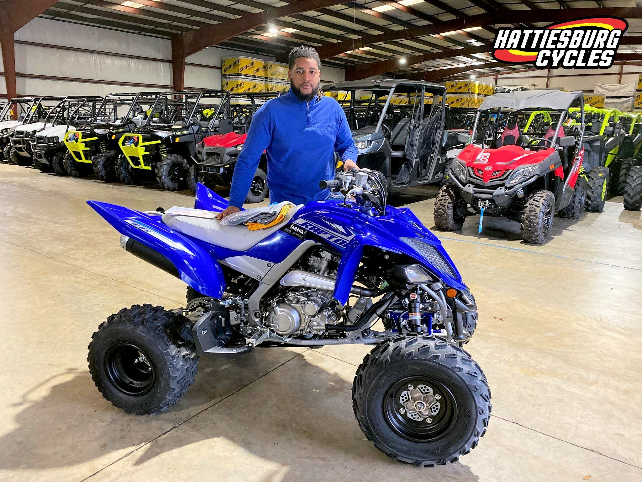 Congratulations To Tevin Campbell From Decatur Ms For Purchasing A 2020 Yamaha Raptor 700 R At Hattiesburg Cycles Ya Yamaha Raptor 700 Dirtbikes Hattiesburg