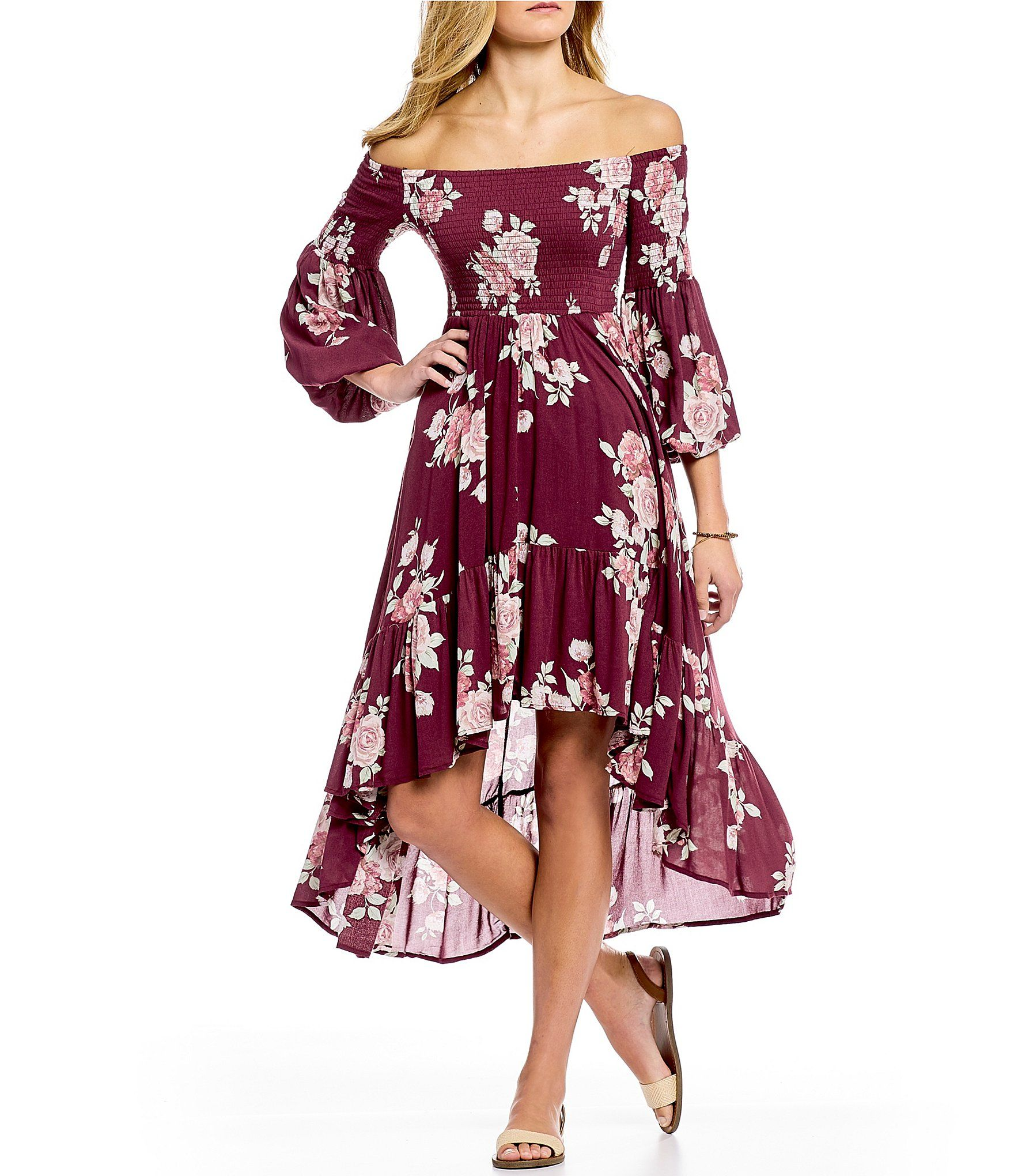 a7e380a58f1 Shop for Coco + Jaimeson Floral Print Smocked High-Low Dress at Dillards.com.  Visit Dillards.com to find clothing