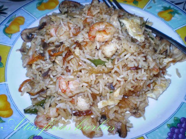 A las finas hierbas: Shrimp Fried Rice