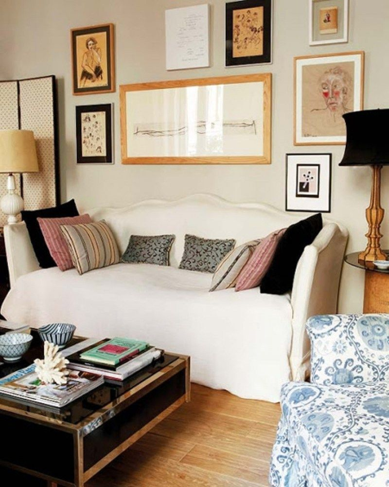 Small Living Room Office Ideas: 34 Cozy Office With Daybed Small Bedroom Decorating Ideas
