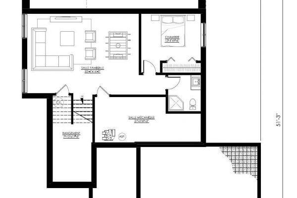 Plan De Maison Moderne ë136 In 2019 Small House Plans