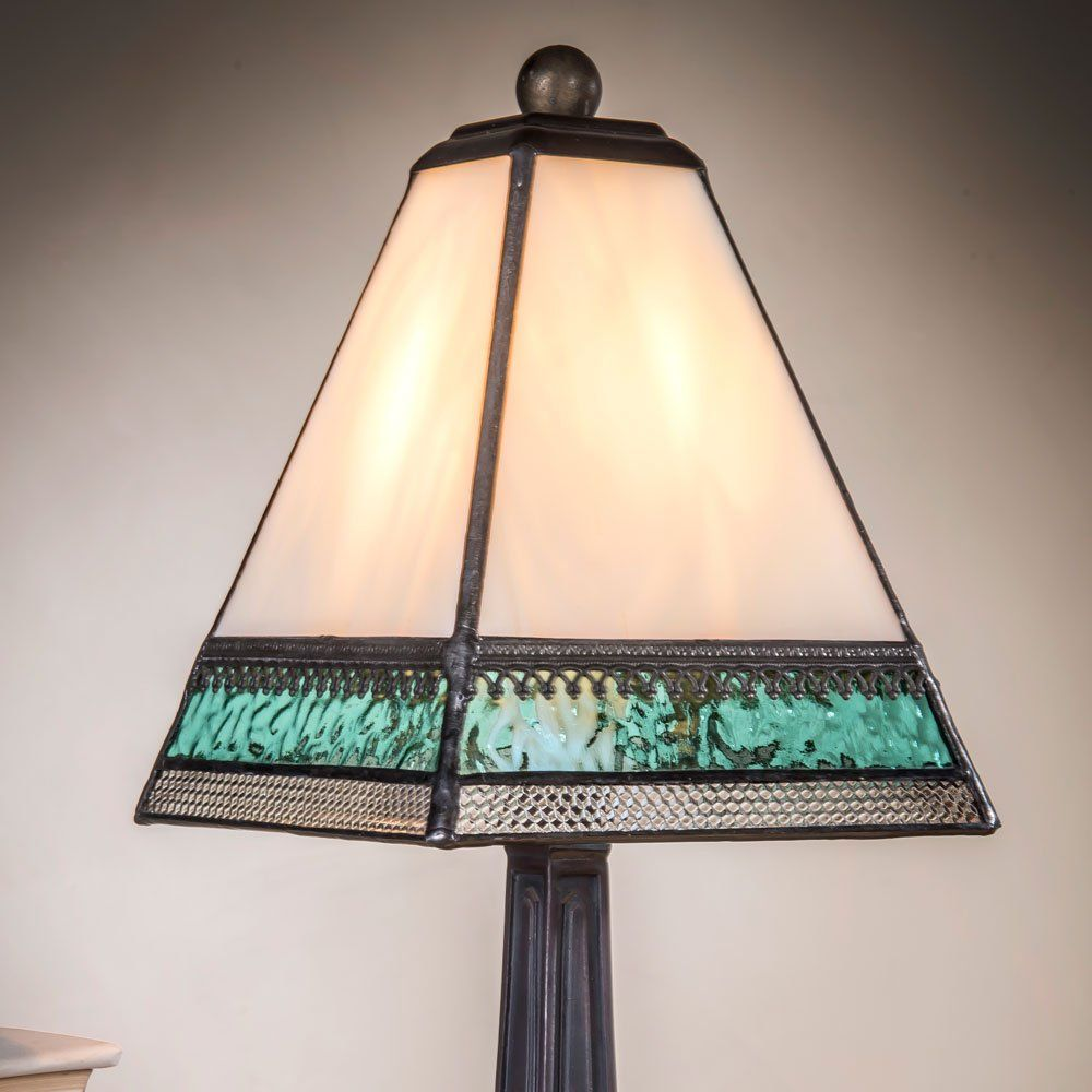 J devlin lam 696 tb tiffany style stained glass miniature table j devlin lam 696 tb tiffany style stained glass miniature table lamp ivory aqua blue and geotapseo Choice Image