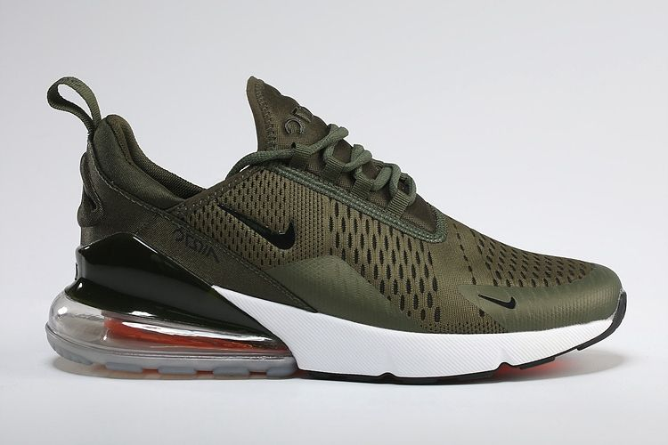 new styles 97f94 e2a53 Men s Women s Nike Air Max 270 Flyknit Shoes Army Green Black UK Trainers  Sale