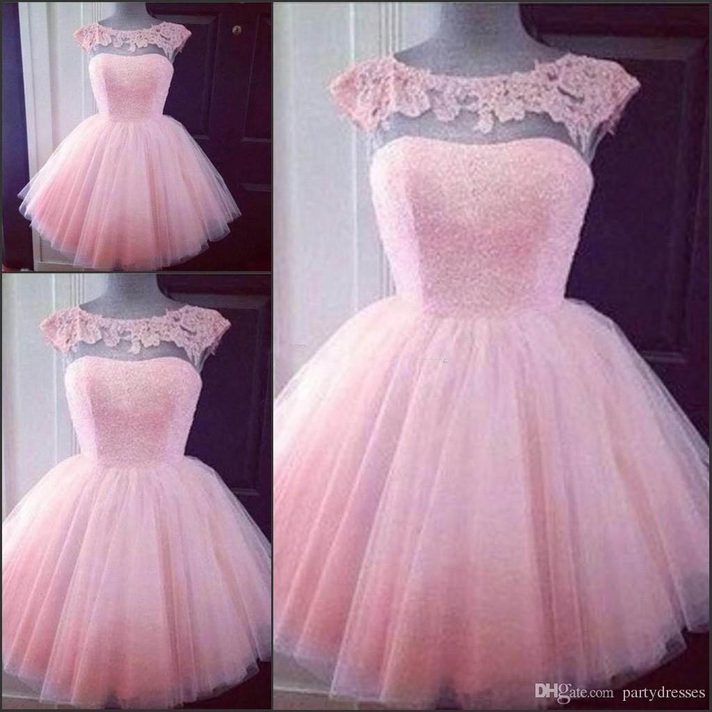 2018 Mini Short Homecoming Dresses Crystal Beaded Sweet 16 ...