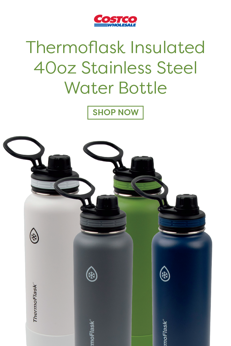 Thermoflask Insulated 40oz Stainless Steel Water Bottle With Spout Lid 2 Pack In 2020 Stainless Steel Water Bottle Water Bottle Stainless Steel Bottle