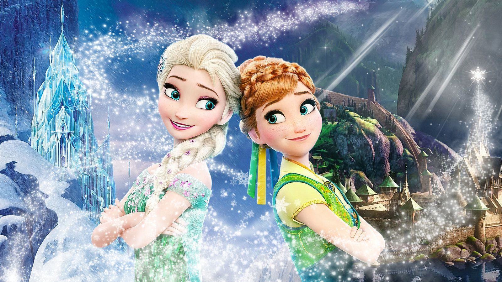 Frozen 1920x1080 (Elsa and Anna of Arendelle 3) by