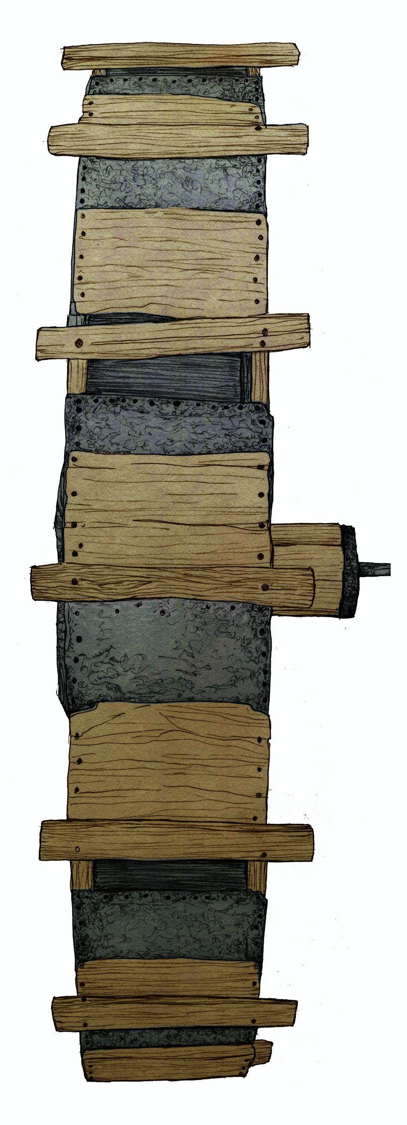 Bombillo (sénia) elevar aigua / Bombillo (noria) elevar agua