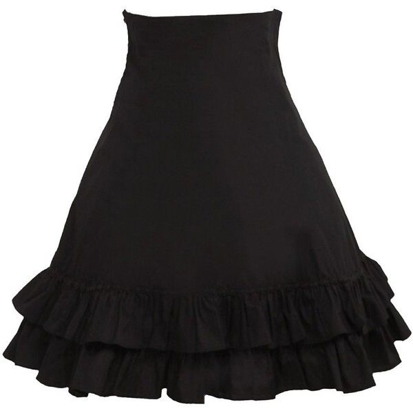 Partiss Women's Pleated Cotton Lolita Skirt ($27) ❤ liked on Polyvore featuring skirts, cotton skirt, knee length pleated skirt, cotton pleated skirt, cotton knee length skirt and pleated skirt