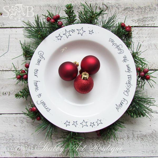 Christmas sharpie plates #sharpieplates Shabby Art Boutique sharpie plate 1 #sharpieplates
