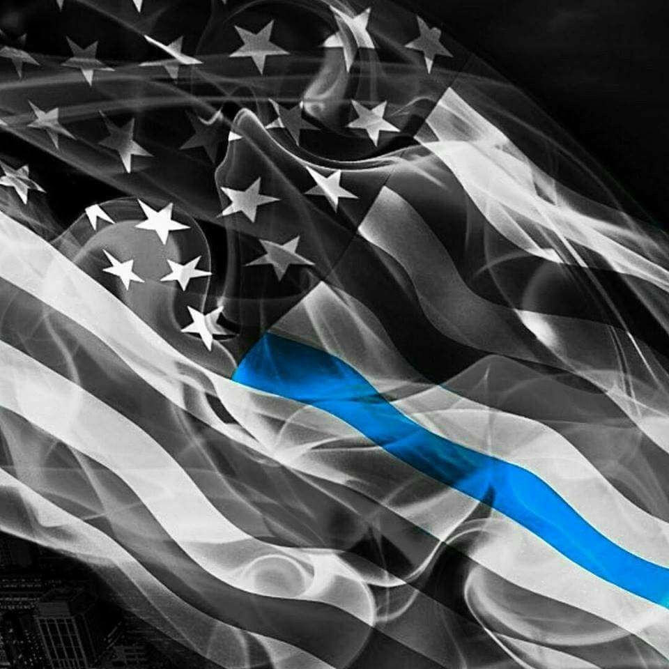 """5/"""" WI Wisconsin Thin Blue Line Tattered American Flag Police Sticker"""