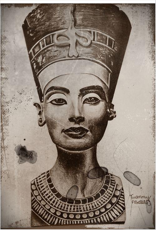 Image result for pharaoh sketch Queen | Egyptian goddess ... |Nefertiti Tattoo Drawing