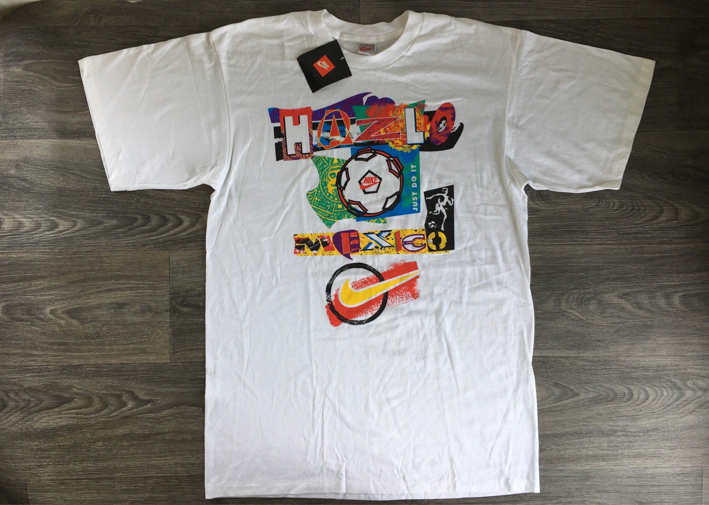 Nike Hazlo Mexico Tshirt Vintage 90s Just Do It New With Tags Etsy In 2020 Mexico Tshirt Futbol Shirts Nike Tees