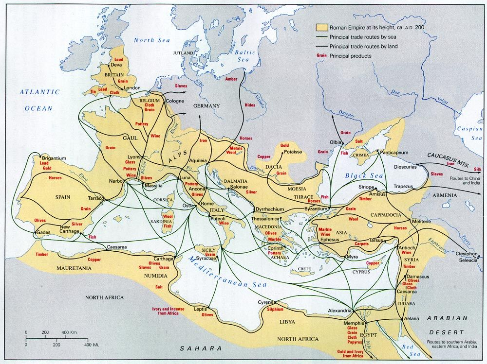 Roman Trade Routes Circa 200 Ad Mystery Of History Volume 2