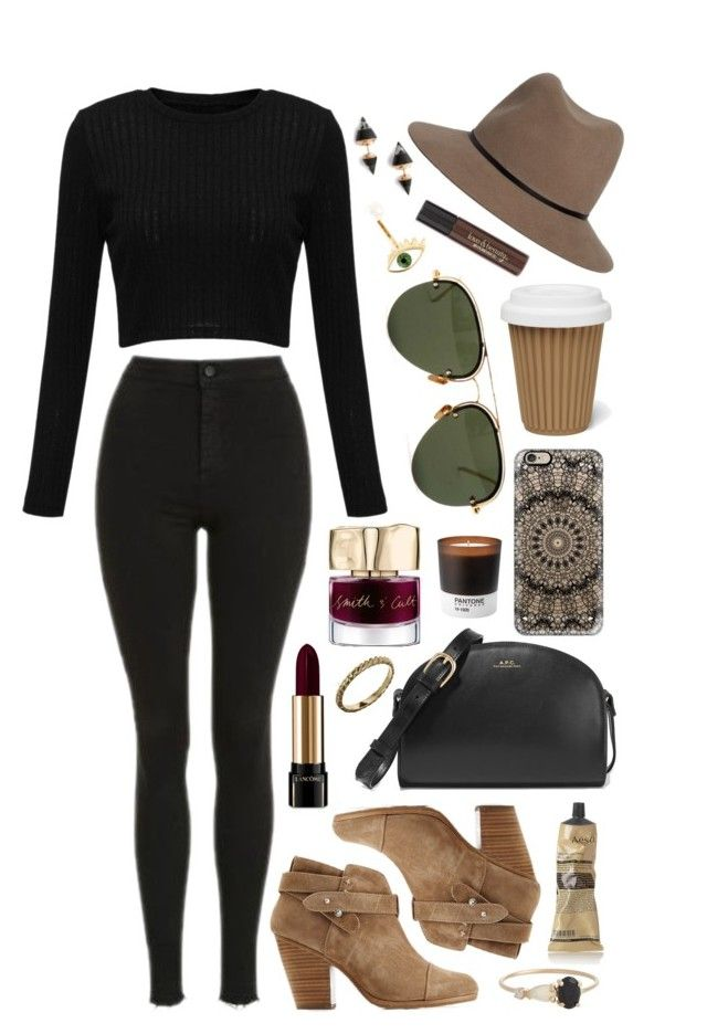 Untitled #509 by clary94 on Polyvore featuring Topshop, rag & bone, A.P.C., Vita Fede, Delfina Delettrez, Loren Stewart, ASOS, Linda Farrow, Janessa Leone and Casetify