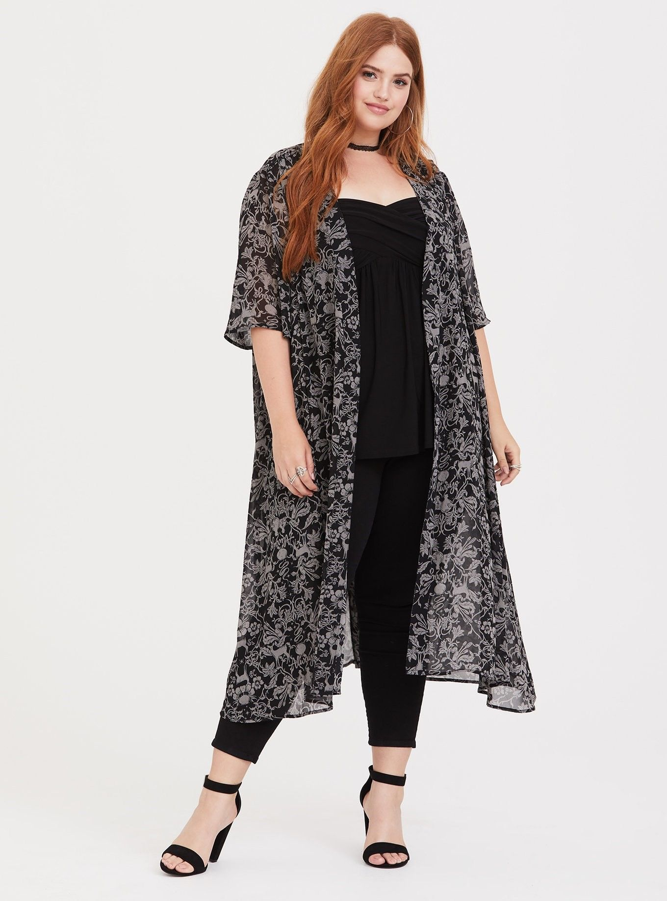 9aced15bed7 Harry Potter Baroque Snape Chiffon Kimono - A subtle yet magical Harry  Potter themed chiffon kimono is airy and has goes-with-everything appeal.