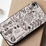 1D One Direction Tattoos - iPhone 4/4S, iPhone 5/5S, iPhone 5C Case, Samsung Galaxy S4/S5 Case