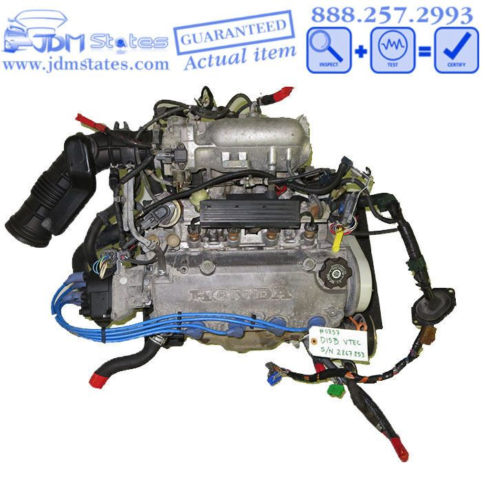 Details about JDM D15B 1 5L 4 cyl NON VTEC ENGINE FOR HONDA