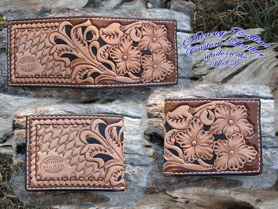 Check out this item in my Etsy shop https://www.etsy.com/listing/266784774/hand-tooled-mens-bi-fold-wallet
