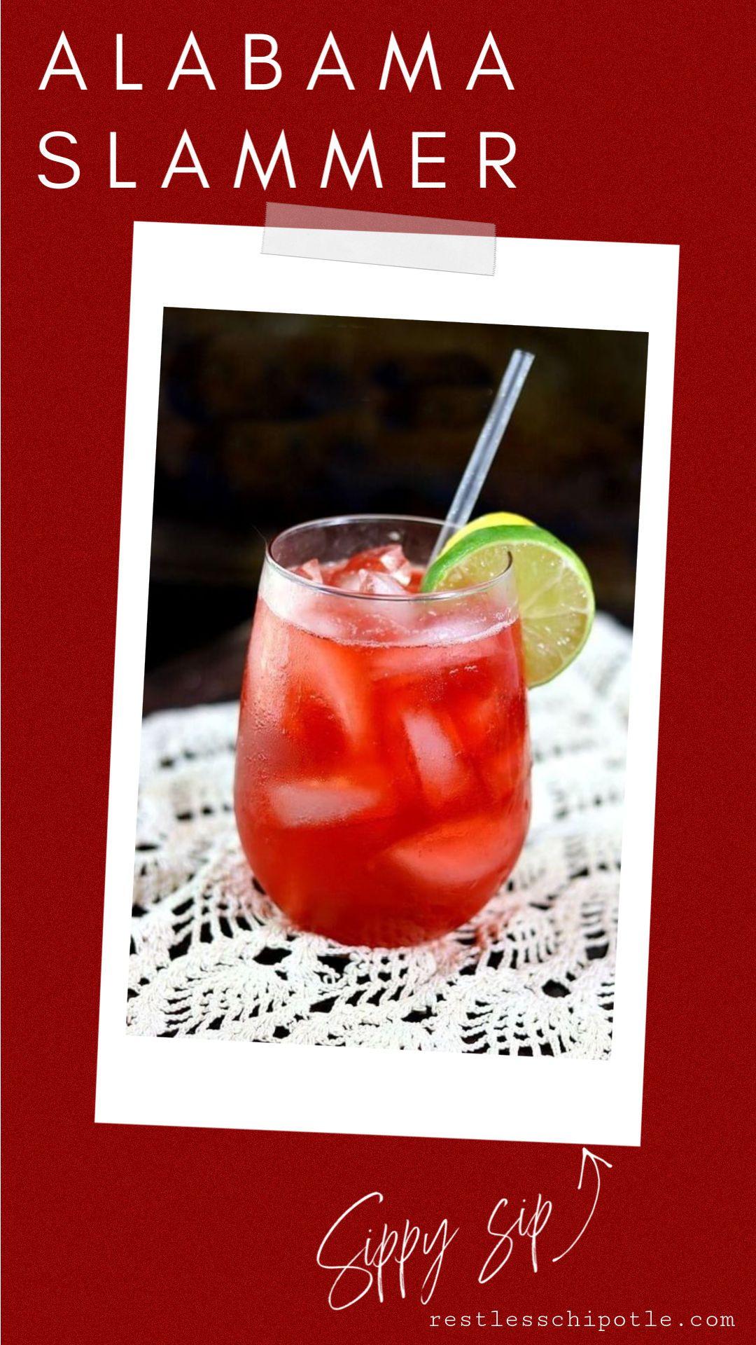 Alabama Slammer Cocktail Vintage Southern Comfort Alabama