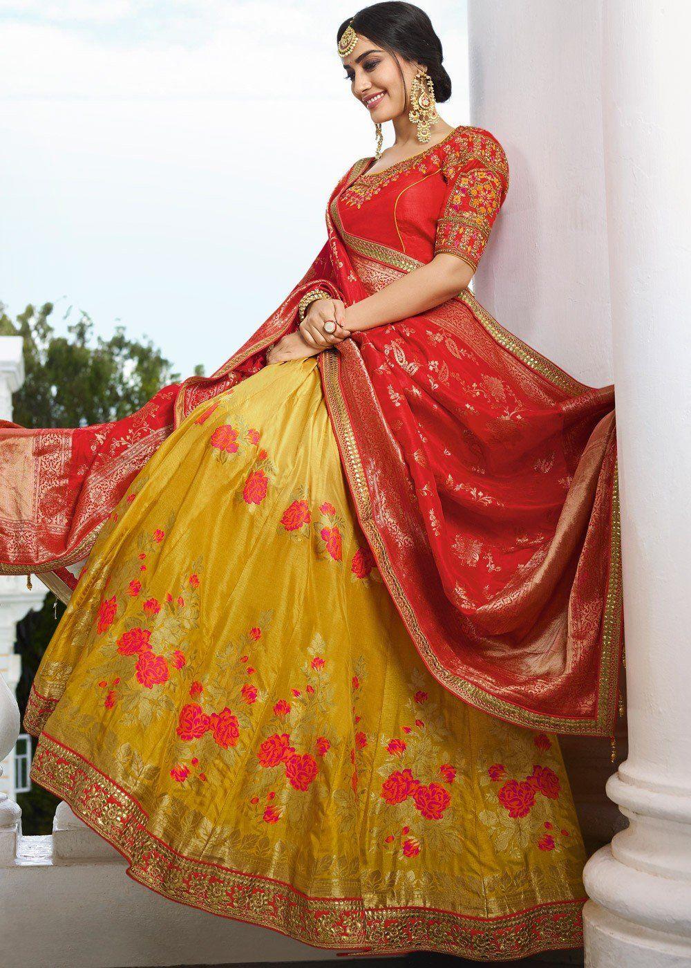 1c4a2307a4 Bride and Baraat Lehenga Choli Collection by Haya Creations ...