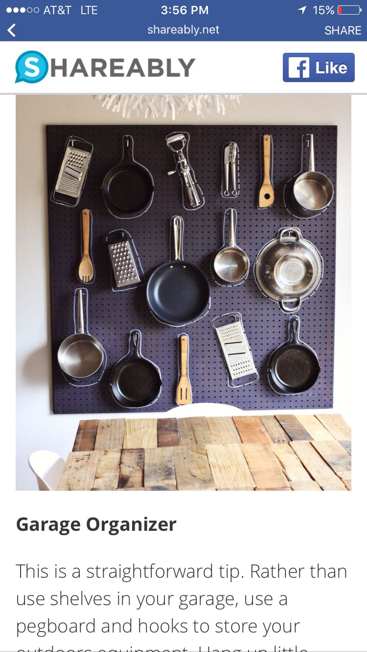 Nice table Idear | Pegboard kitchen, Small kitchen ...
