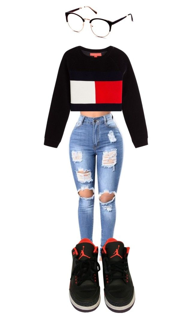"""""""Tommy Girl"""" by queennicki1019 on Polyvore featuring NIKE"""