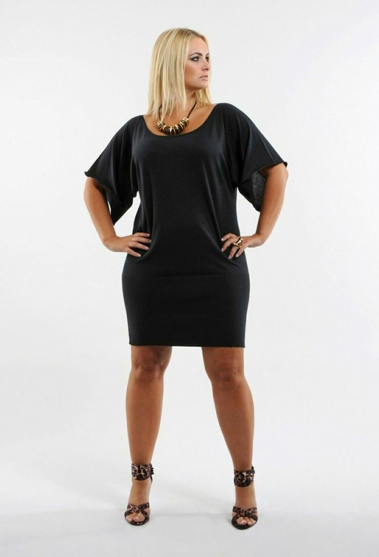 Robe pull pour femme ronde