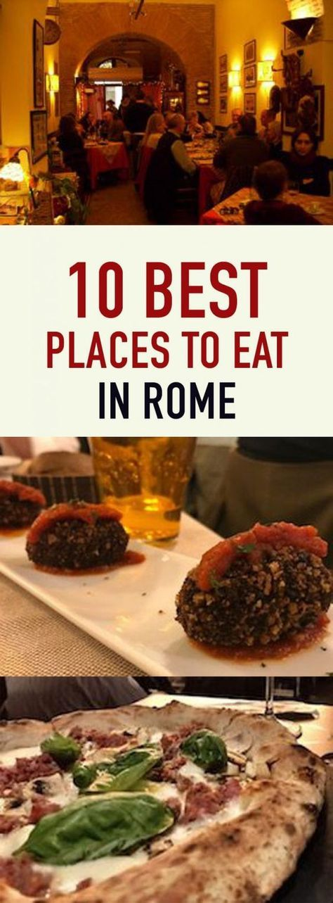 Best Places To Eat In Rome