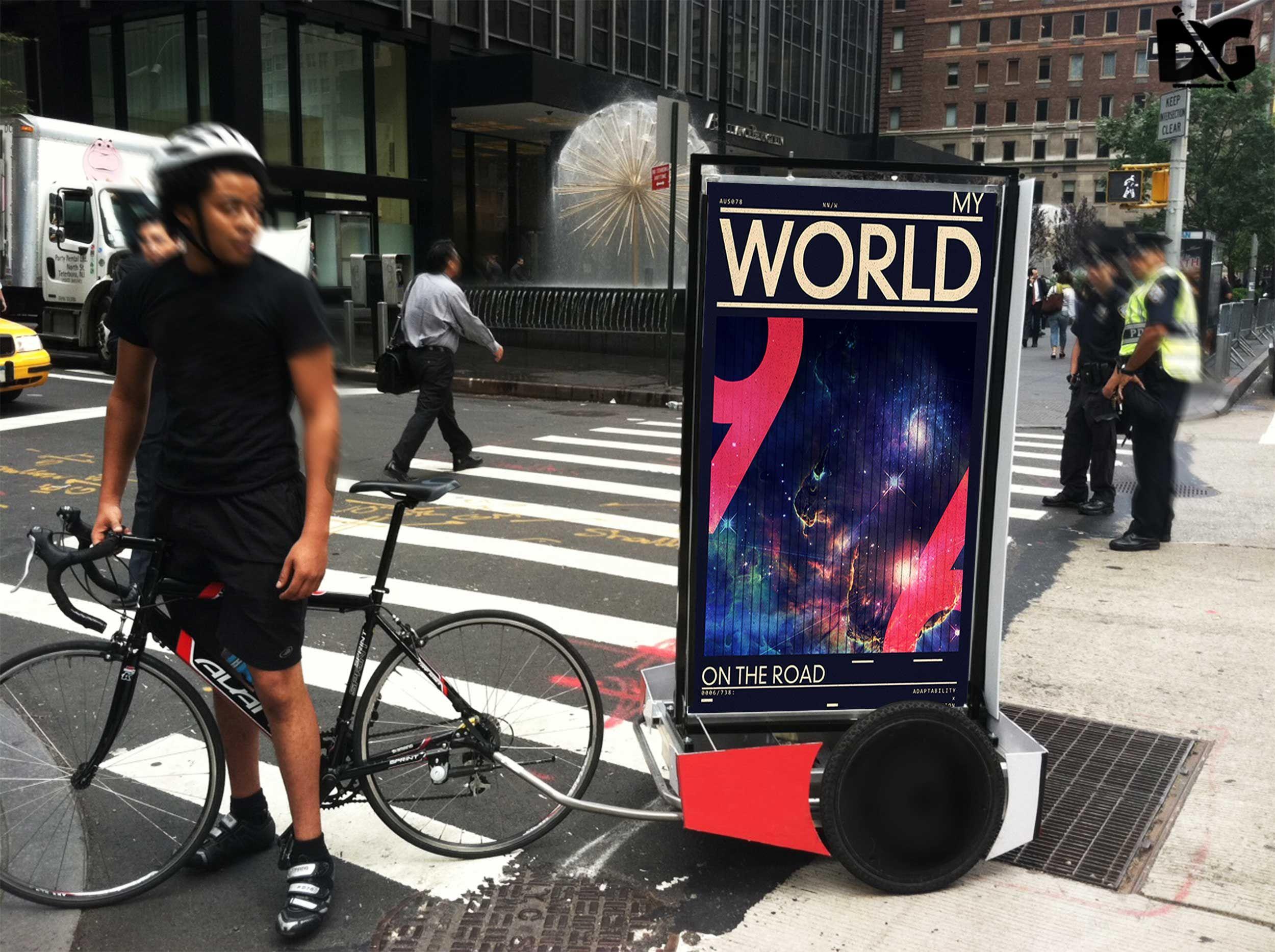 Download Free Download Psd Bicycle Billboard Ad Mockup Admockup Billboardadmockup Billboardmockup Branding Download Downloadpsd Free Mockup Free Psd Mockup Psd