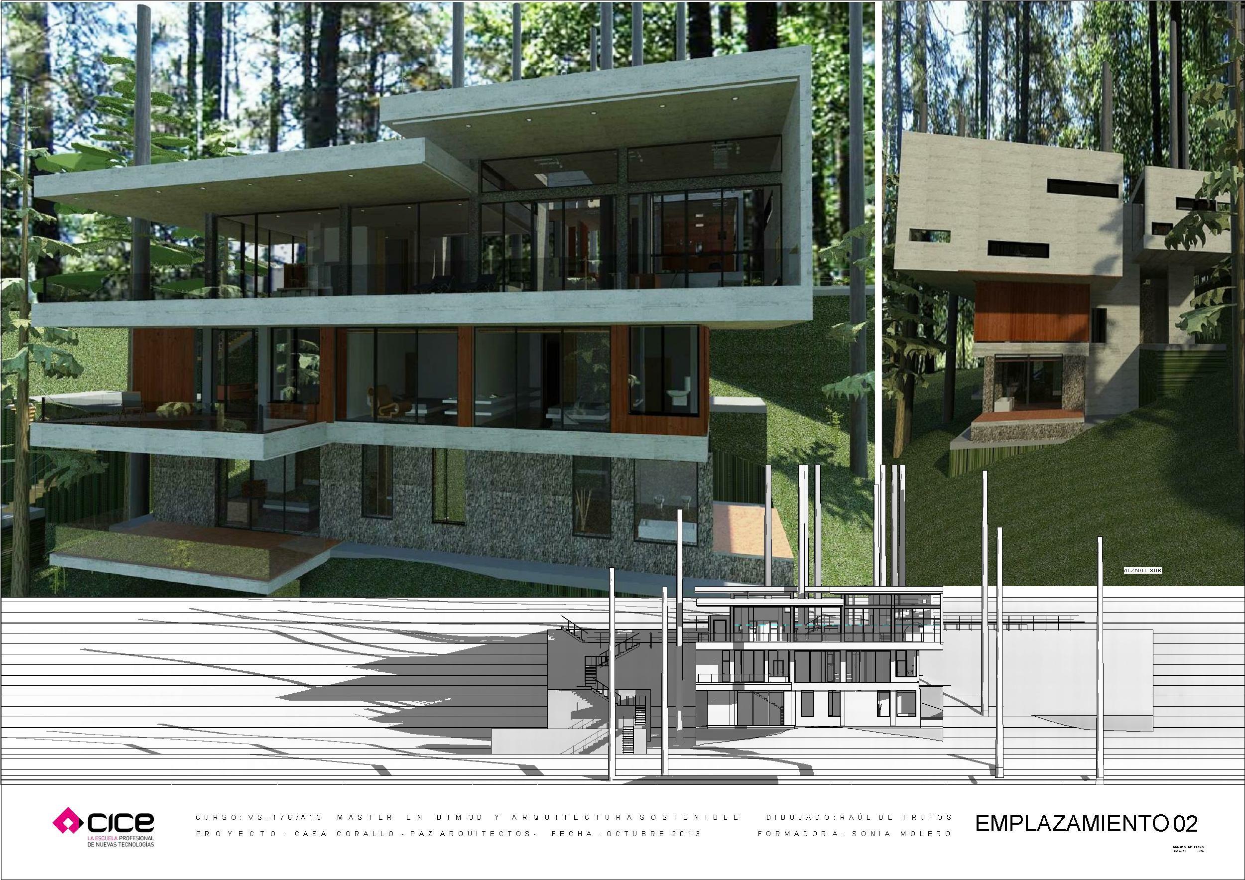 Cice 2013 casa corallo paz arquitectos por ra l de for Casa moderna revit