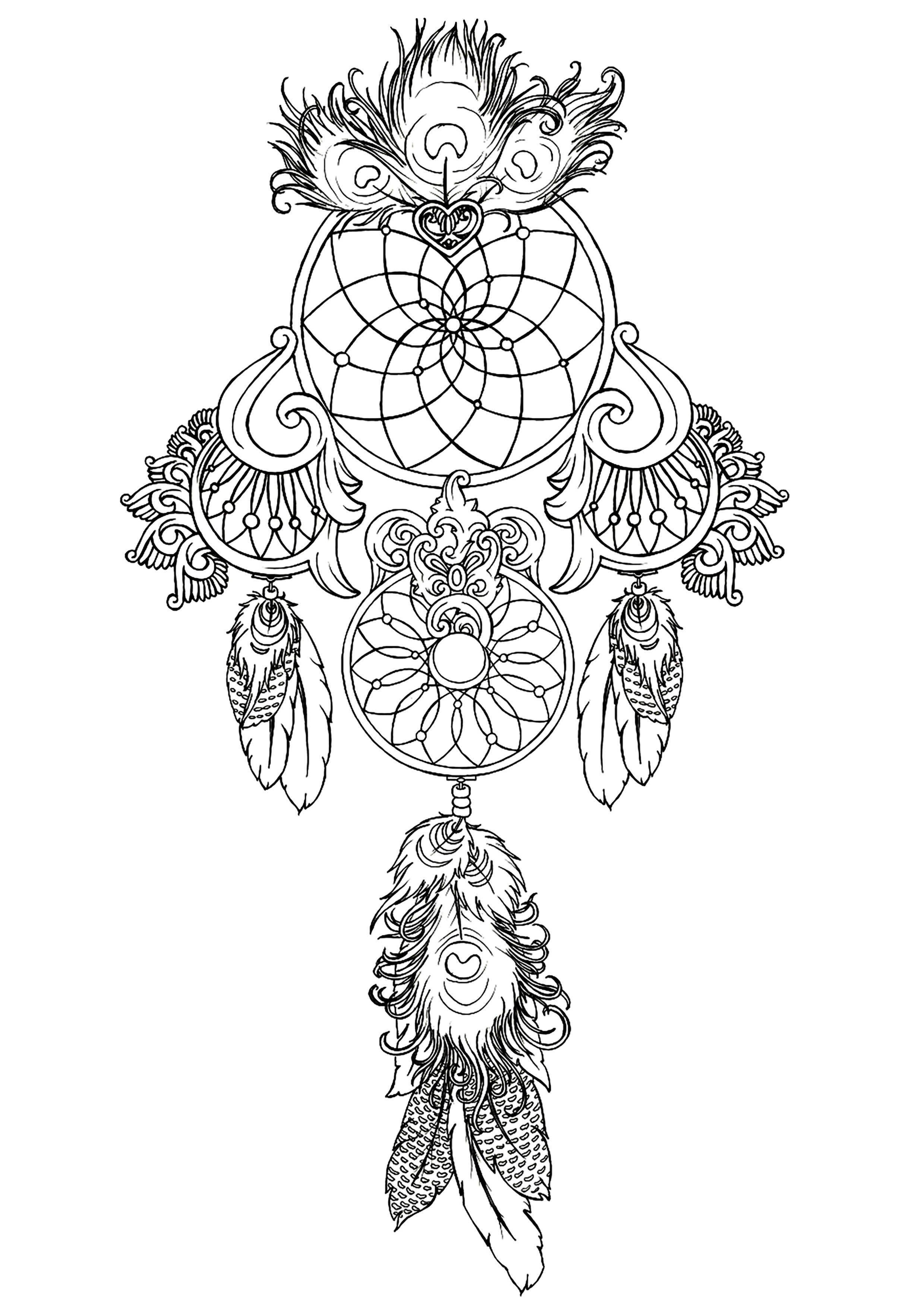 - Free Online Coloring Pages For Adults Dream Catcher Coloring