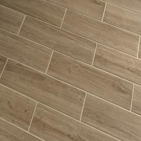 Lowes - wood look: Serso Wheat Glazed Porcelain Floor Tile (Common ...