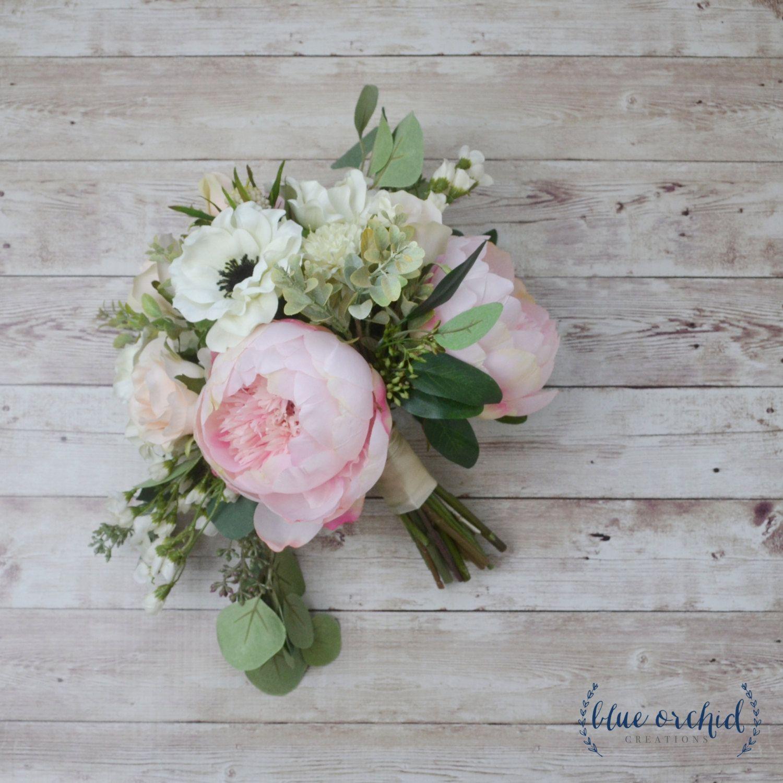 Wedding bouquet silk bouquet silk flowers floral arrangement wedding bouquet silk bouquet silk flowers floral arrangement peony bouquet anemone bouquet boho bouquet boho wedding large bouquet mightylinksfo