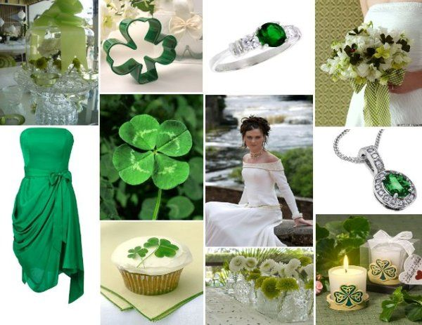 Wedding ideas celtic and green Clovers Emerald green and Green
